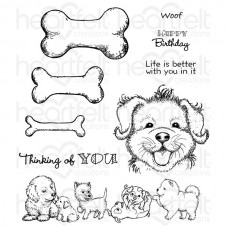 Heartfelt Creations Paw-fect Pooches Cling Stamp Set HCPC-3760