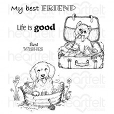 Heartfelt Creations Pampered Pooch Cling Stamp Set HCPC-3762