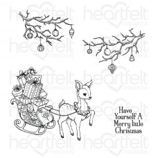 Heartfelt Creations Merry and Bright - Merry Little Christmas Cling Stamp Set