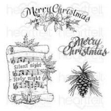 Heartfelt Creations O Holy Night ~ Silent Night Scroll Stamp