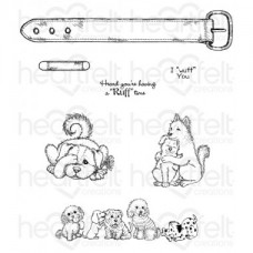 Heartfelt Creations Pampered Pooch Pals Cling Stamp Set HCPC-3759