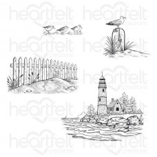 Heartfelt Creations Sea Breeze Harbor Cling Stamp Set