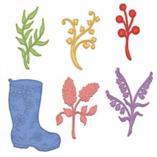 Heartfelt Creations Rain Boots and Blossoms Die HCD1-7169