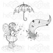 Heartfelt Creations Singing in the Rain Cling Stamp Set HCPC-3809