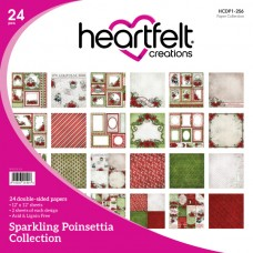 Heartfelt Creations Sparkling Poinsettia Paper Collection