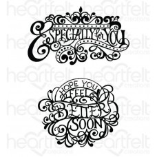 Heartfelt Creations Special Sentiments Collection Elegant Especially for You Cling Stamp Set