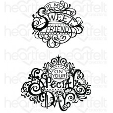Heartfelt Creations Special Sentiments Collection Fancy Special Day Cling Stamp Set