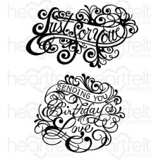 Heartfelt Creations Special Sentiments Collection Ornate Just for You Cling Stamp Set