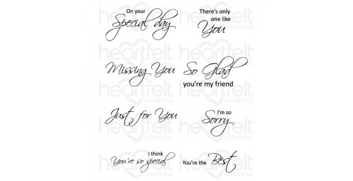 Heartfelt Creations Classic Message Cling Stamp Set HCPC-3354