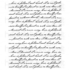 Heartfelt Creations Large Elegant Word Background Cling Stamp Set HCPC-3323