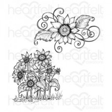 Heartfelt Creations Sunflower Patch Cling Stamp Set HCPC-3629