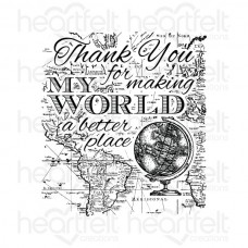 Heartfelt Creations My World Cling Stamp Set HCPC-3663