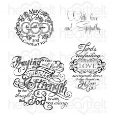 Heartfelt Creations Courage and Strength Cling Stamp Set