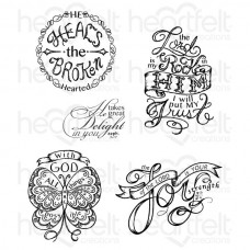Heartfelt Creations All Things are Possible Cling Stamp Set