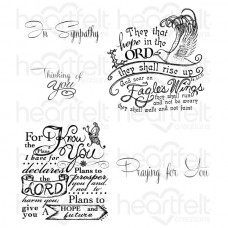 Heartfelt Creations Soar on Eagle's Wings Cling Stamp Set