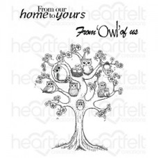 Heartfelt Creations Sugar Hollow Tree Cling Stamp Set HCPC-3719