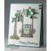 Heartfelt Creations You're a Hoot Cling Stamp Set