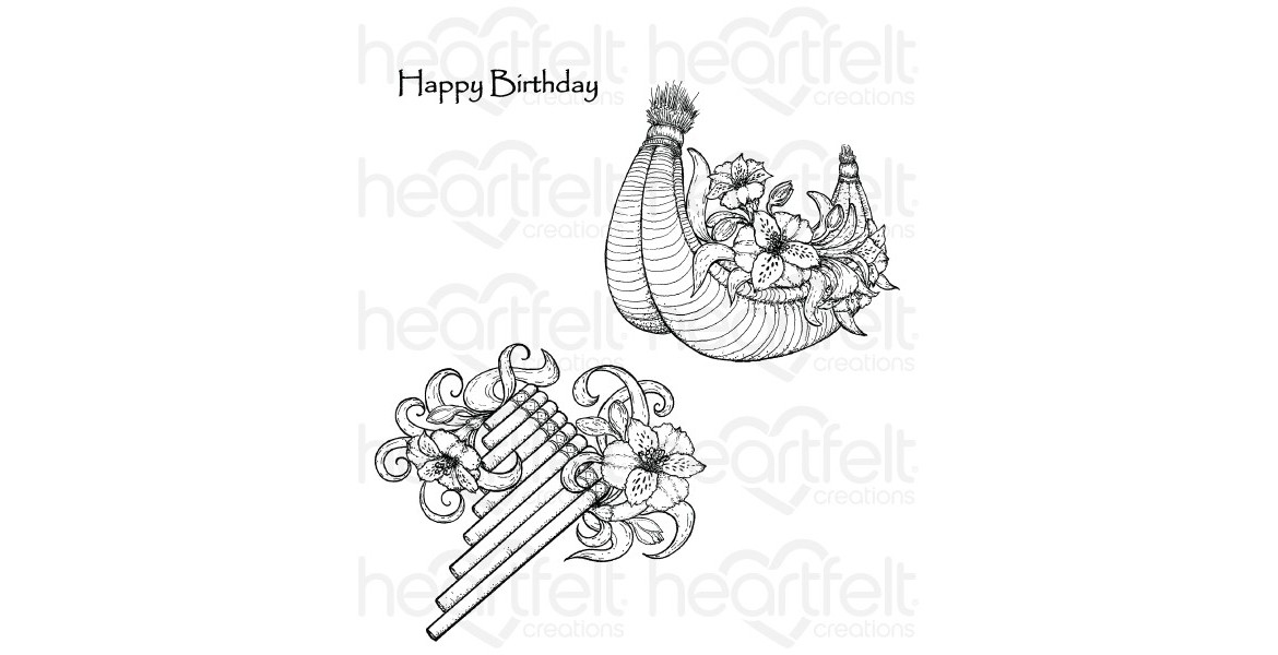 Heartfelt Creations Sunrise Lily Flute Cling Stamp Set