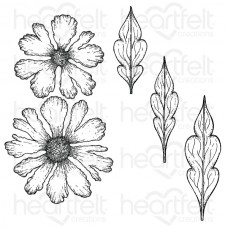 Heartfelt Creations Large Sweet Peony Cling Stamp Set HCPC-3820