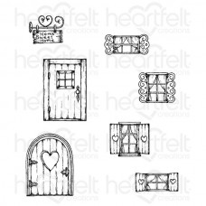 Heartfelt Creations Wildwood Cottage Cling Stamp Set