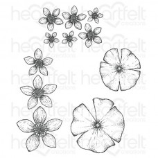 Heartfelt Creations Water Lily Cling Stamp Set HCPC-3725