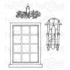 Heartfelt Creations Window Frame Cling Stamp Set