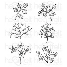 Heartfelt Creations Winter's Eve Window Box Fillers Cling Stamp Set