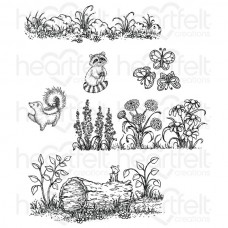 Heartfelt Creations Woodsy Wonderland Cling Stamp Set