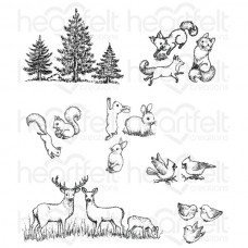 Heartfelt Creations Woodsy Critters Cling Stamp Set HCPC-3768