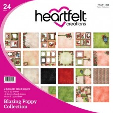Heartfelt Creations Blazing Poppy Paper Collection HCDP1-255