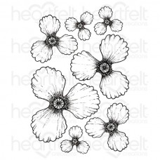 Heartfelt Creations Blazing Poppy Petals Cling Stamp Set HCPC-3674
