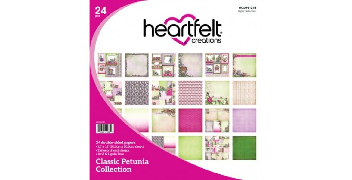 Heartfelt Creations Classic Petunia Paper Collection HCDP1-278