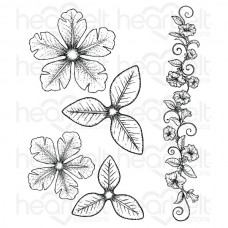 Heartfelt Creations Large Classic Petunia Cling Stamp Set