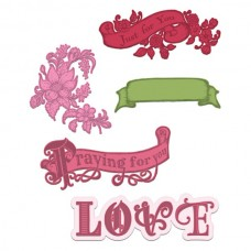 Heartfelt Creations Banners Of Love Die HCD1-7160