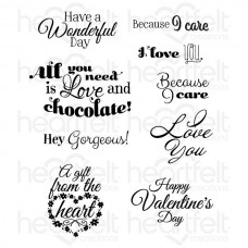 Heartfelt Creations Heartfelt Love Sentiments Cling Stamp Set HCPC-3804