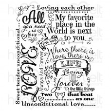 Heartfelt Creations Forever Love Background Cling Stamp Set HCPC-3805