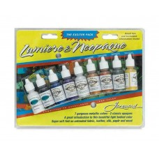 Jacquard Ink Pack - Lumiere & Neopaque Bottles 14ml 9/Pkg