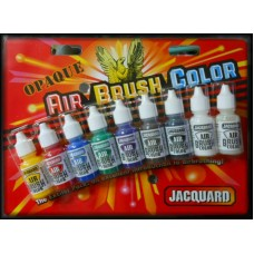 Jacquard Ink Pack - AIR BRUSH COLORS - OPAQUE Bottles 14ml 9/Pkg