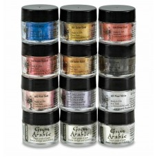 Jacquard Pearl Ex - 12pc Powdered Mica Metallic Pigments - Calligraphy Set
