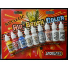 Jacquard Ink Pack - AIR BRUSH COLORS - METALLIC Bottles 14ml 9/Pkg
