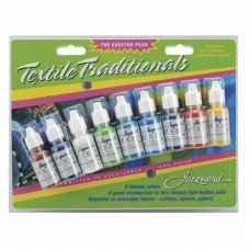 Jacquard Ink Pack - Textile Traditionals Perminant Bottles 14ml 9/Pkg