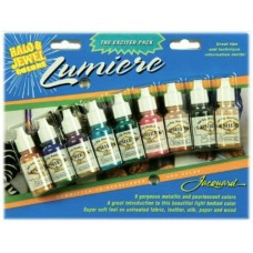Jacquard Ink Pack - Lumiere HALO & JEWEL Bottles 14ml 9/Pkg
