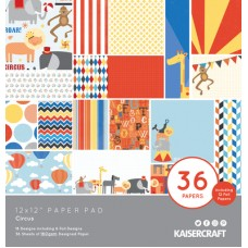 Kaisercraft Circus 12x12 Paper Pad 36 Page