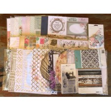 Kaisercraft Grab Bag - 40x Sheets, Stamp Set, Embossing Folder, Collectables & 6x6 Paper Pad