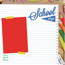 Kaisercraft 2 Cool 4 School 12x12 Gloss - Home Eco