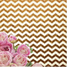 Kaisercraft All That Glitters 12x12 Specialty Paper - Chevron Glitter