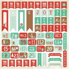 Kaisercraft Gingerbread - 12x12 Sticker Sheet - Numbers