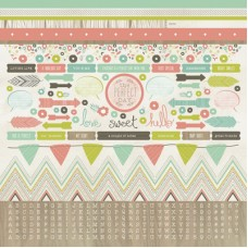 Kaisercraft Bow & Arrow 12x12 Sticker Sheet
