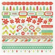 Kaisercraft Mistletoe 12x12 Sticker Sheet