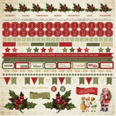 Kaisercraft Yuletide 12x12 Sticker Sheet